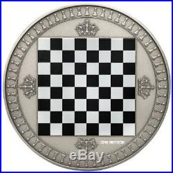 2018 2 Oz Silver Niue $5 CHESS Chessboard Board Antique Finish Coin