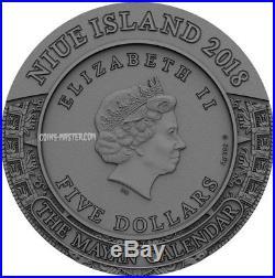 2018 2 Oz Silver Niue $5 MAYAN CALENDAR Ancient Calendars Ultra High Relief Coin