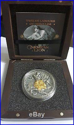 2018 2 Oz Silver Niue $5 TWELVE LABOURS OF HERCULES, Nemean Lion Coin