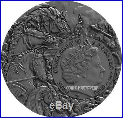 2018 2 Oz Silver Niue $5 WHITE HORSE, Four horseman Of The Apocalypse Coin