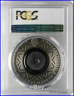 2018 $2 Tuvalu Thermometer Antique Finish 2oz 9999 Silver Coin PCGS PR70