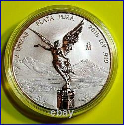 2018 2 oz Silver Libertad REVERSE PROOF Coin in Capsule Mintage of 2,100 ONLY