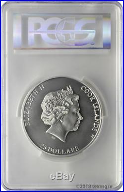 2018 $25 Cook Islands 7 Summits Aconcagua 5oz. 999 Silver Coin PCGS MS70 FD