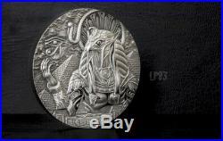 2018 3 Oz Silver $20 RA SUN GOD EAGLE HEAD Gods Of The World Coin
