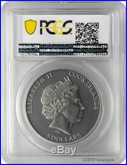 2018 $5 Cook Islands Bald Eagle 1oz. 999 Silver High Relief Coin PCGS MS70 FD