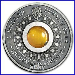 2018 Australia 1 oz Silver Good Luck Rotating Charm (Antiqued) SKU#170632