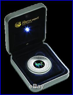 2018 Australia Opal Series Lunar Year of the Dog 1oz Silver Proof $1 Coin