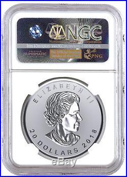2018 Canada 1 oz Silver Maple Incuse Reverse $20 NGC PF70 UC FR PRESALE SKU52796
