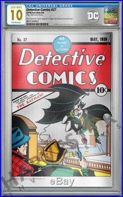 2018 DC Comics Detective Comics #27 Premium Silver Foil Cgc 10 Gem Mint