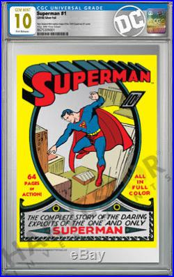 2018 DC Comics Superman #1 Premium Silver Foil Cgc 10 Gem Mint