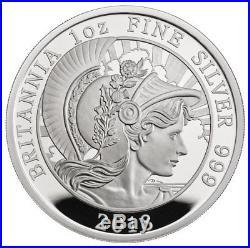 2018 Great Britain 1 oz Silver Britannia Proof £2 Coin GEM Proof SKU54670