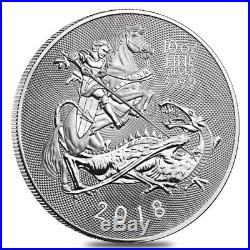 2018 Great Britain 10 oz Silver Valiant Coin In Cap. 9999 Fine BU