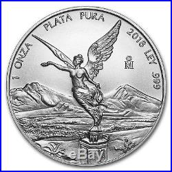 2018 Mexico 1 oz Silver Libertad (25-Coin MintDirect Tube) SKU#150008