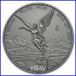 2018 Mexico 5 oz Silver Libertad Antiqued Finish (In Capsule) SKU#180845