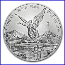 2018 Mexico 5 oz Silver Libertad BU SKU#162409
