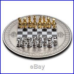 2018 Niue 2 oz Silver Antique Chess Board Game Set SKU#181995
