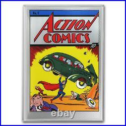 2018 Niue 35 gram Silver DC Action Comics #1 Foil