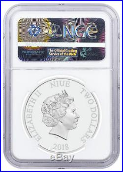 2018 Niue Space Invaders 1 oz Silver Lenticular PF $2 Coin NGC PF70 UC SKU52684