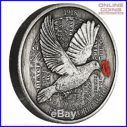 2018 Perth Mint 100th Anniversary End of World War I 5oz Silver Antiqued Coin