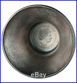 2018 Solomon Islands Liberty Bell 4 oz Silver Antiqued $10 Coin GEM BU SKU57305