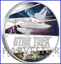 2018 Star Trek Original Series Ships Enterprise 2 Oz. Silver Mintage 850