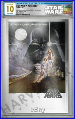 2018 Star Wars A New Hope Premium Silver Foil Cgc 10 Gem Mint First Release