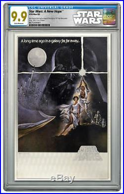 2018 Star Wars Posters New Hope Silver Foil Note Silver CGC Mint 9.9 ER SKU53157