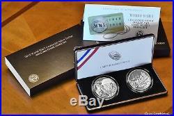 2018 World War I Centennial Silver Coin & Coast Guard Medal set with OMP
