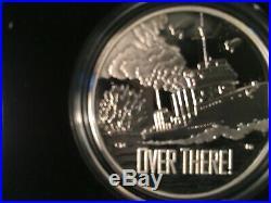 2018 World War I Centennial Silver $ + Navy Medal 2 Coin Set From Us Mint, Gem
