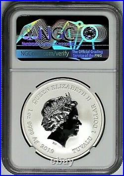 2019 $1 Tuvalu 1 oz Silver Homer Simpson NGC MS70 First Day of Issue Pacific Rim