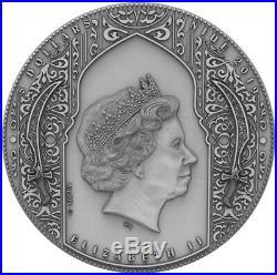 2019 2 Oz Silver $2 Niue ASSASSINS Antique Finish Coin