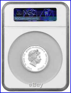 2019 $2 Tuvalu Simpson Family 2oz. 9999 Silver Proof Coin NGC PF70 UC -Early Rel