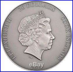 2019 3 Oz Silver Cook Island $20 POSEIDON Sea Gods Of The World High Relief Coin