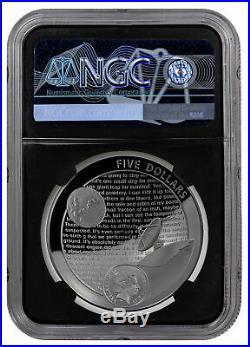 2019 Aust Apollo 11 Moon Domed 1 oz Silver NGC PF70 FR Blk Duke Label SKU58422