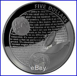 2019 Aust Apollo 11 Moon Landing Domed Black Nkl 1oz PF Silver PRESALE SKU58421