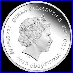 2019 Barbie 60th Anniversary 1 oz Silver Proof Colorized $1 Coin