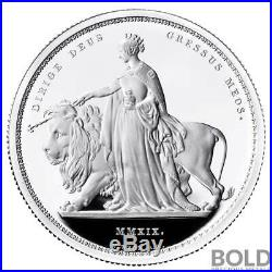 2019 Britain Great Engravers Una and the Lion 2 oz Silver Proof