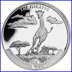 2019 Geiger Silver World's Wildlife Giraffe 1 oz Coin Roll of 20