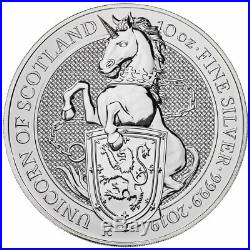 2019 Great Britain 10 oz Silver Queen's Beasts Unicorn £10 Coin GEM BU SKU55965