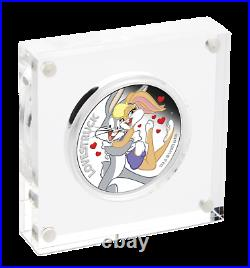 2019 LOONEY TUNES Lovestruck Silver Proof $1 Coin BUGS and LOLA Valentines Day