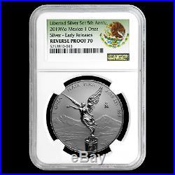 2019 Mexico 1 oz Silver Libertad Reverse Proof PF-70 NGC (ER) SKU#196363