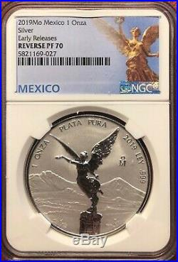 2019 Mexico 1oz Silver Libertad Reverse Proof NGC PL 70 Early Release