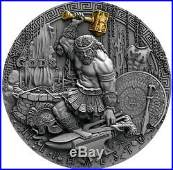 2019 Niue Hephaestus Ultra High Relief Silver Coin Gods Series (3 Of 3)