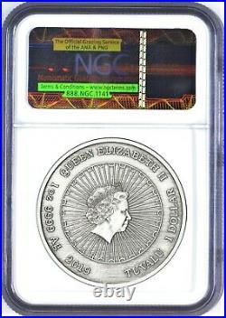 2019 P Tuvalu Laughing Buddha ANTIQUED 1oz Silver $1 COIN NGC MS70 Natural Jade