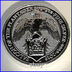 2019 Queen's Beast Falcon of Plantagenets 2 oz. 9999 Silver UK Coin Brexit