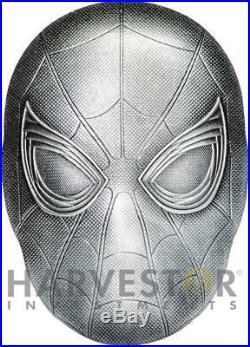 2019 SPIDER-MAN MASK COIN 2 OZ. SILVER COIN MARVEL MASK WithOGP 2ND IN SET
