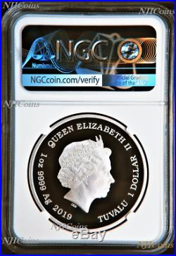 2019 THE WIZARD OF OZ 80th Anniversary Proof $1 1oz Silver COIN NGC PF 70 ER