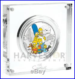 2019 The Simpson Family 2 Oz. Silver Coin Mint Packaging & Coa Mintage 2,000