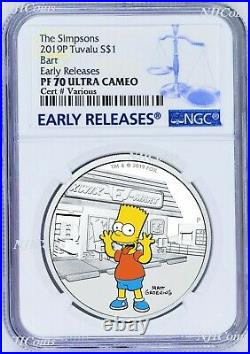 2019 The Simpsons BART Simpson Proof $1 1oz Silver COIN NGC PF 70 ER PF70