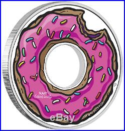 2019 The Simpsons Donut Proof $1 1oz Silver COIN NGC PF 69 First Releases